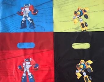 9X12 Transformers goodie bags/Transformers Inspired/Transformers Rescue Bots Inspired/Rescue Bots goody bags/Transformers Birthday