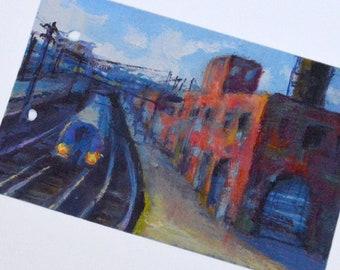 Long Island Railroad Train Ticket Art - Sunnyside Yards - Railroad Memorabilia  - Train Gifts