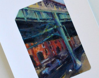 Train Ticket Art Print - Under the Railroad Tracks - Train Wall Art - Train Gifts