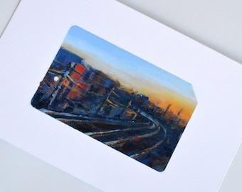 Long Island Railroad Art Curve in the Railroad Tracks Train Art Print Train Gifts