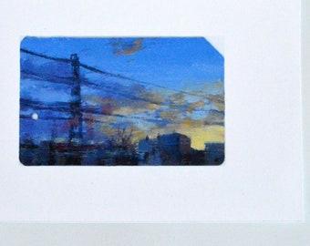 Train Art Print - The Sky After the Storm - Train Window View - Train Gifts - Long Island Railroad Art