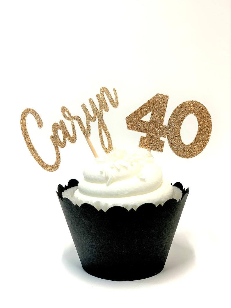 12-pk Custom Name /& Age Cupcake Toppers
