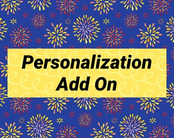 Personalization Add On-Red As Rose Design Shop