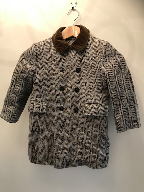 1920s - 30s children's coat and matching hat; anti