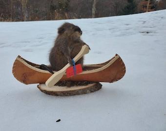 Muskrat in a Canoe
