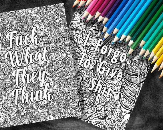 Bored As Fck Adult Coloring Books Coloring Books For Etsy
