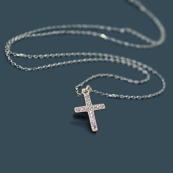Silver Crucifix Anniversary,Graduation,Birthday present idea Sterling Silver Crucifix together with 16 inch Silver chain Christening gift