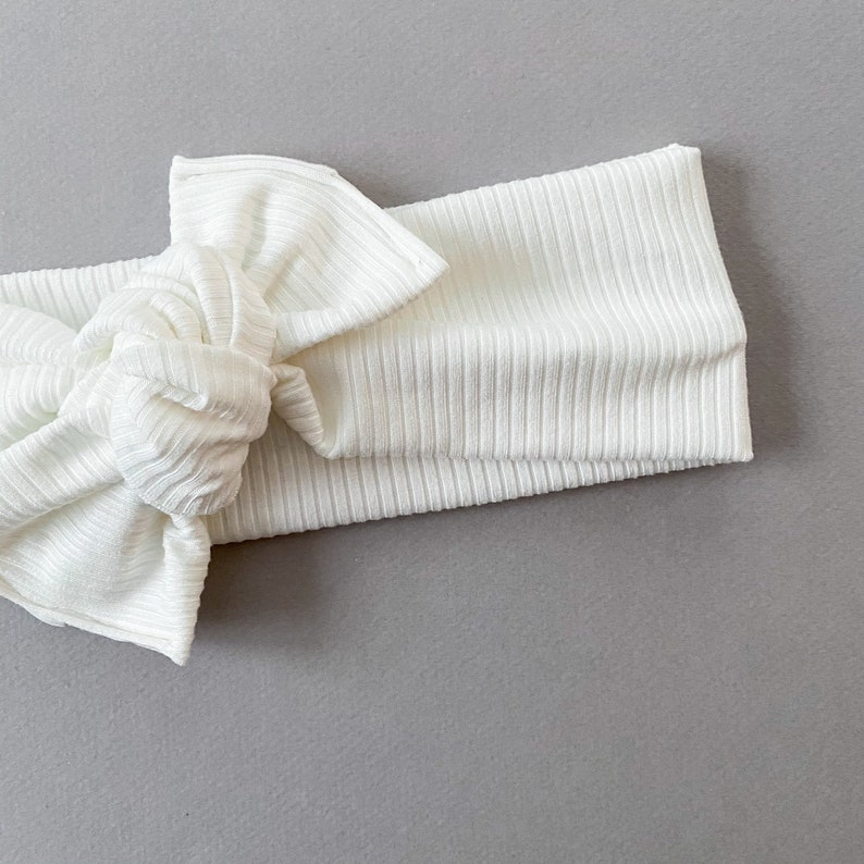 CREAM RIB \u2022 head wrap for baby and child