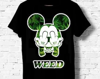 Propriété de ma petite amie drôle Mickey Doigt Hommes Femmes Enfants T-shirts Débardeur S-XXL