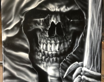 Airbrushed 11x14 Canvas - Reaper