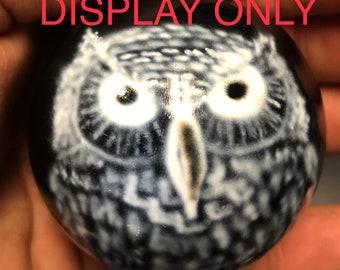 Airbrushed Billiard Ball - Owl
