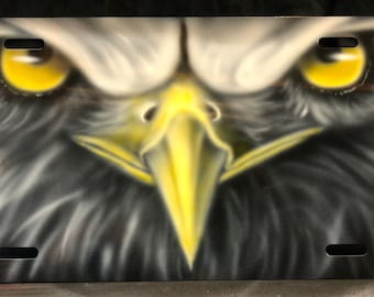 Airbrushed License Plate - Eagle