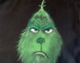 Airbrushed Canvas Tote - Grinch