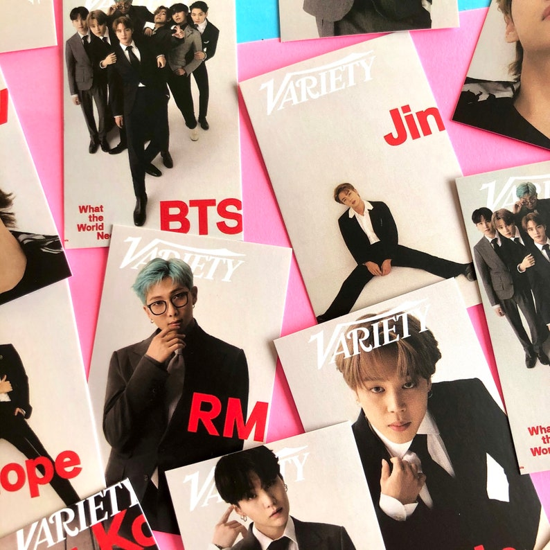 BTS photo card set