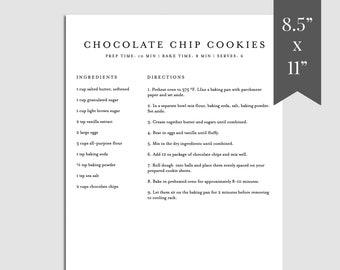 Homemade Recipe Book Template from i.etsystatic.com