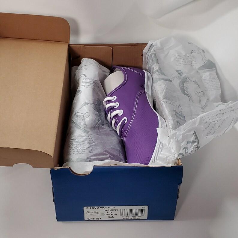 Deadstock Keds Women/'s Champion Violet Canvas Shoes WF31251