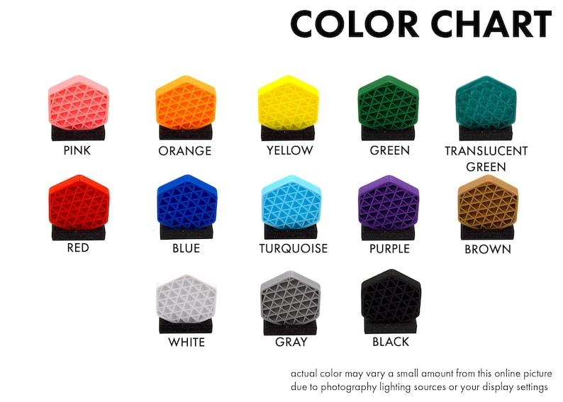 Six - Tag Charms Kandi Charms Custom Anjunabeats Charms 2 Sided 3D Printed 6