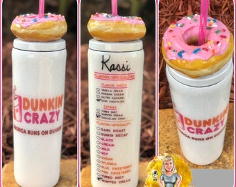 Dunkin Doughnuts whipped cream or donut topping tumbler