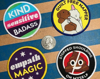 Empath Merit Badges Woven Patch Sew On Patch Iron On Patches for Jean Jacket Hat