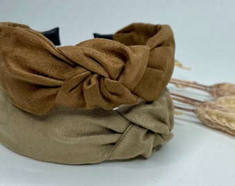 Faux Suede Knot Headbands - 2 colours, Hair Accessory, Unique Headband, Womens Headband, Alice Band, Top Knot, Hair Turban