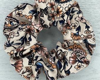 Pretty Paisley Scrunchie - Bunny Scrunchie - Scarf Scrunchie, Hair Ties, Hair Elastic, Hair Accessories