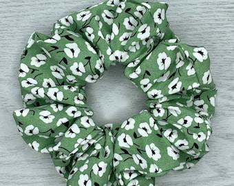 Green With Envy Scrunchie - Bunny Scrunchie - Scarf Scrunchie, Hair Scarf, Hair Ties, Hair Elastic, Hair Accessories, Bohemian