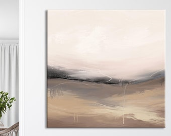 Large Milimalist Abstract Painting,Beige White Minimalist Painting On Canvas,Brown Textured Painting Abstract Art,Modern Living Room Decor