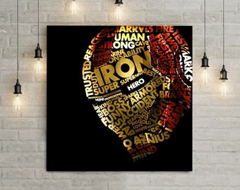 Ironman Art Deco Abstract Giant Poster A0 A1 A2 A3 A4 Sizes