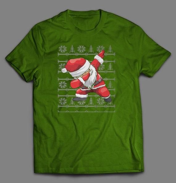 Black Santa Dab Awesome Apparel Gildan Long Sleeve Tee T-Shirt