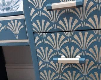 GATSBY 002 Art Deco 1920 PATTERN Fabric Furniture Vintage 190 MYLAR A4 STENCIL