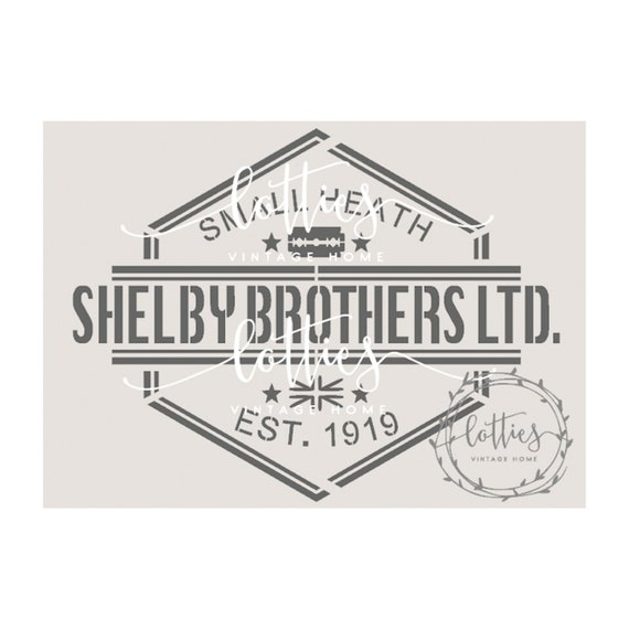 A5 STENCIL PEAKY BLINDERS SHELBY BROTHERS Furniture Crates Vintage 190 MYLAR