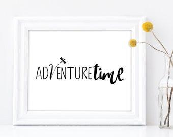 Adventure Time Printable Art, Dragonfly Adventure Digital Art for Wall Decor, Kids Room Wall Art, Adventure Play Room Decor