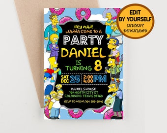 Simpsons Birthday Banner Printable Party Ideas