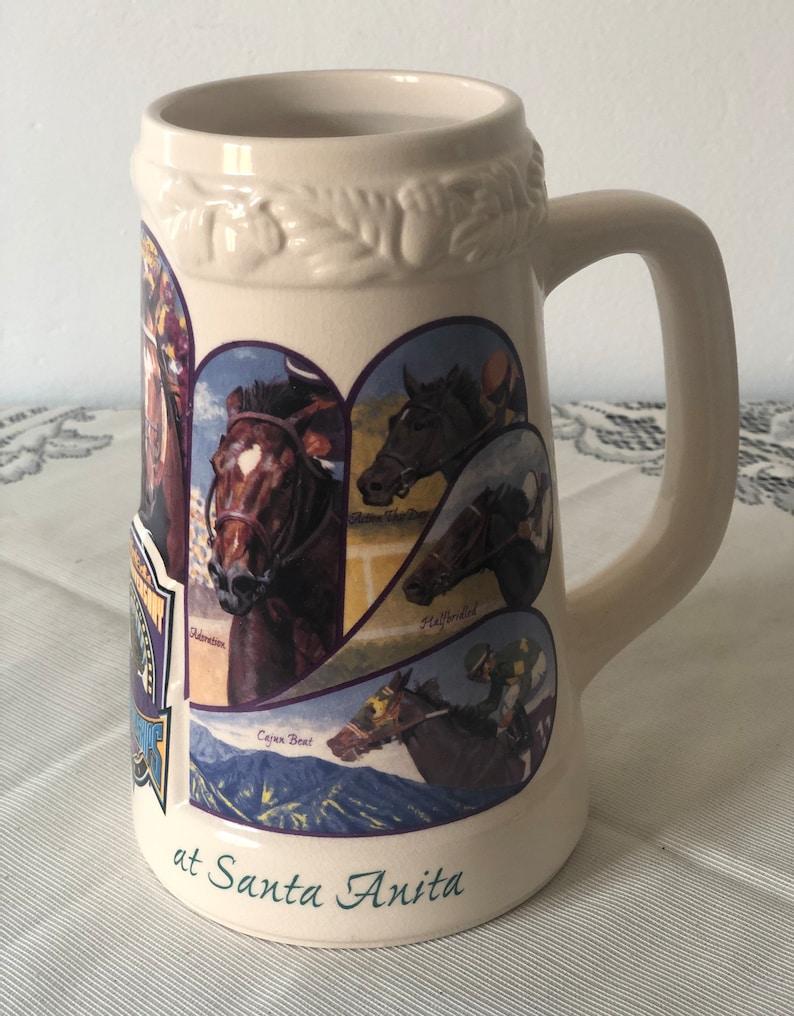 2004 Oak Tree Santa Anita Horse Breeders club beer Stein #718