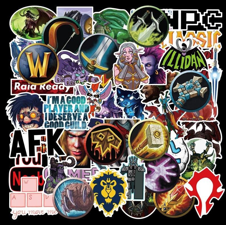 22. World Of Warcraft Sticker Packs, 50pcs