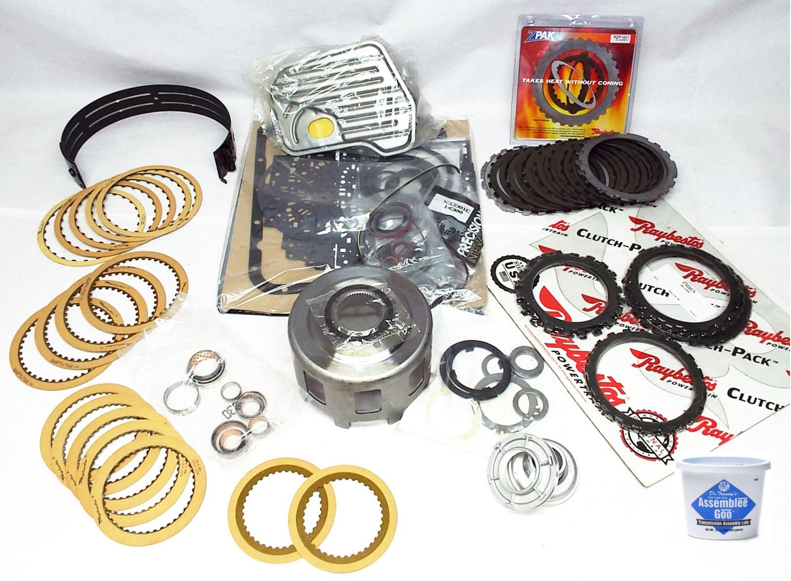 Used, 4L60E 4L65E 1993-1996 Super Master Rebuild Kit HD High Performance Koleen ZPACK With Heavy Duty Shell And Assembly GOO Plus for sale
