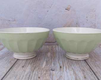 French vintage 6 small breakfast bowls in Chauvigny porcelain 1960