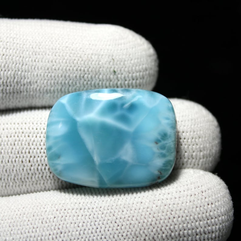 Larimar Wire Wrapped Stone 33.90 Carat Incredible Natural Larimar Loose Gemstone Cabochon,Larima Jewelry 26x20x7 MM Size Code BS1174