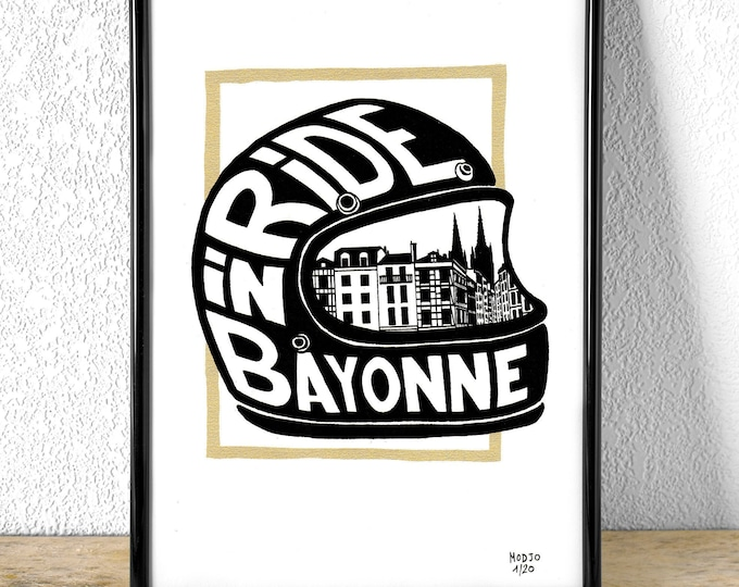 Sérigraphie RIDE IN BAYONNE