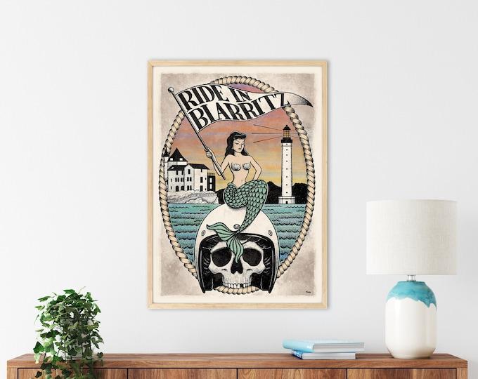 Affiche RIDE IN BIARRITZ (50x70cm)