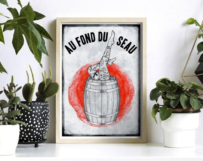 AU FOND DU SEAU (21x29,7cm)