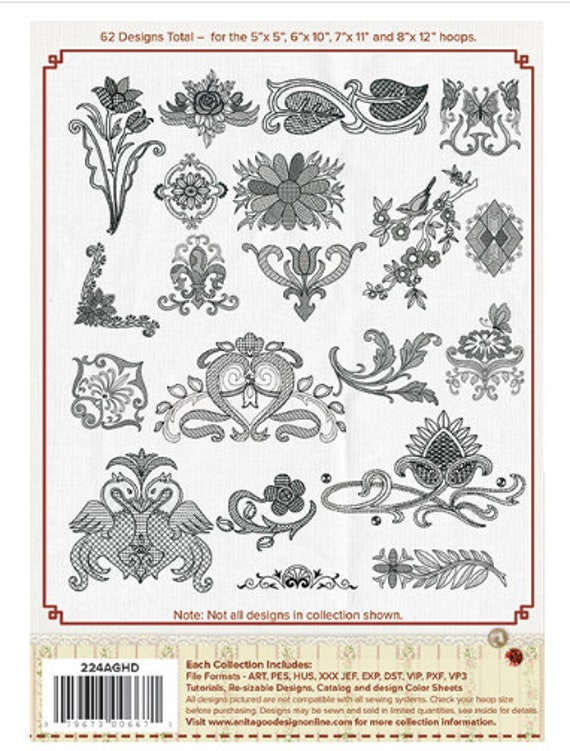 Anita Goodesign A SUNDAY AFTERNOON  Machine Embroidery Designs USB Pes format