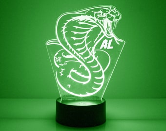 3D Printed Accent Lamp Eagle Fighting a Snake