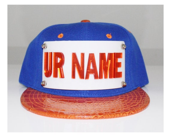 Mirrored Letters Name Create Your Own Snapback Hat Snapback Logo Reproduction Business Logo Custom Made