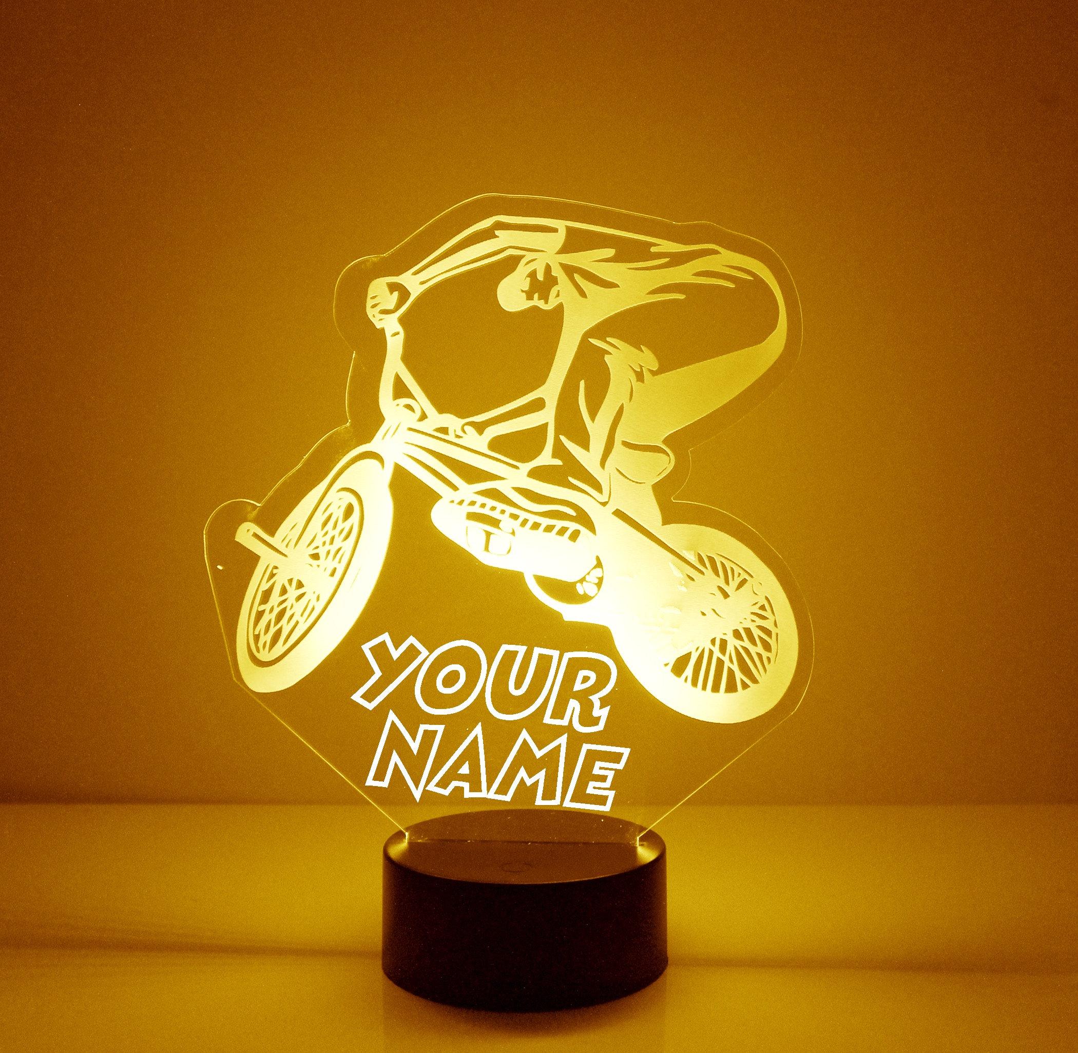 BMX Bike Rider Night Light Personalized Free LED Night ...
