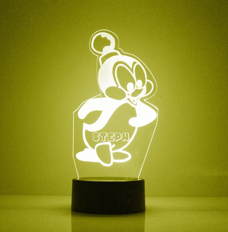 Pinguino Luce Notturna Lampada notturna personalizzata MbGEtW4x