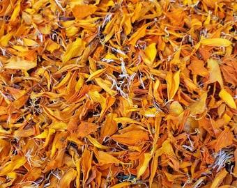 Dried Orange Marigolds