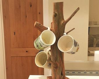 Rustic Mug Holder, Coffee Mug Holder, Wood Mug Holder, Mug Holder Stand, Rustic Mug Tree, Mug Holder, Rustic Mug Rack, Mug Rustic Stand
