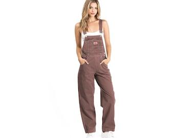 1990s Revolt Vintage Plum, Grey, Black Dungaree Overalls Jumpsuit, Durable Multi-Pocket, Outdoor Workwear Overalls
