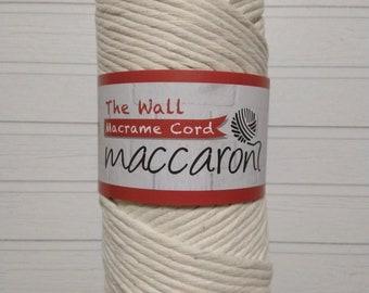 Macrame Cord 9mm x 1 kg Single Twisted Soft Natural Australian Cotton approx 100m